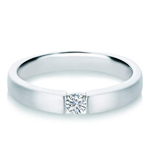 Tresor 1934 Damen-Ring Diamant 0,15 Weißgold Spannring Diamantring Verlobungsring