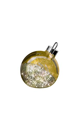 sompex LED Dekoleuchte Ornament, Große Weihnachtskugel mit Beleuchtung, Dekoelement Fußboden, Farbe:Gold, Durchmesser:Ø 20 cm