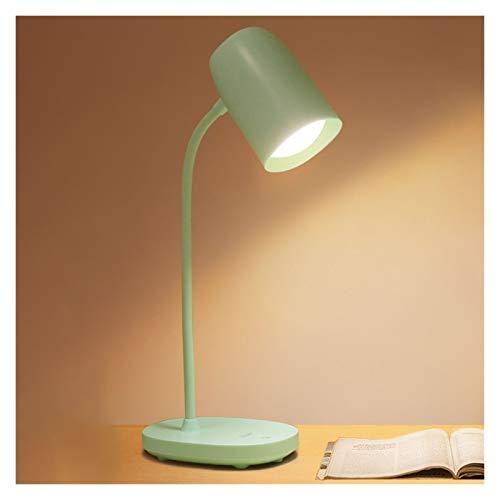 WCN Escritorio Luz LED Lámpara De Escritorio 3 Modos De Color 360 ° Lámpara De Mesa De Mangueras Flexibles 360 ° Lámpara De Caradura Ocular para La Oficina De Lectura del Estudio (Color : Green)