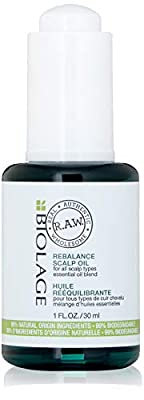BIOLAGE R.A.W. Rebalance Scalp Oil | Soothes, Refreshes & Balances Scalp Moisture Levels | With Cedarwood, Lemongrass & Peppermint | Silicone & Paraben-Free | 1 Fl. Oz.