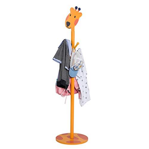 Patères portemanteaux Porte-Manteau Cintres De Sol pour Enfants Cintres Étagères pour La Maison Cadeau pour Enfants Sécurité Et Protection De l'environnement (Color : Orange, Size : 35 * 35 * 135cm)