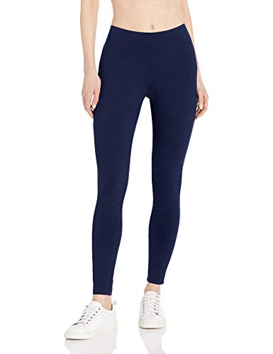 Kuckuck Leggings Damen, High Waist Leggins Damen, Yoga Leggings aus Baumwolle, Navy, Onesize