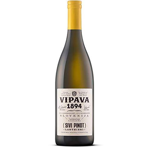 Vipava 1894 vino blanco Lanthieri Sivi Pinot 2017 (Pinot Grigio), vino blanco seco (ricos aromas con características varietales distintivas), vino de calidad ZGP, recogido a mano (0,75