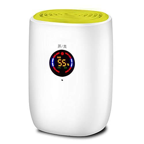 LLDKA 800ml elektrischer Luftentfeuchter für Zuhause tragbaren feuchtigkeitsabsorbierende Lufttrockner mit selbstverlöschenden,Gelb