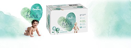 Diapers Size 4, 80 Count - Pampers Pure Protection Disposable Baby Diapers, Hypoallergenic and Unscented Protection, Giant Pack (Old Version)