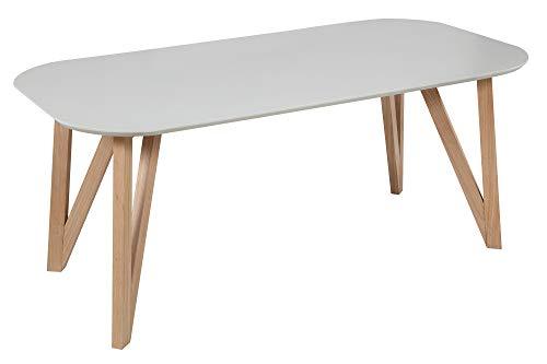 SalesFever Esstisch, MDF, Grau, 180x90 cm