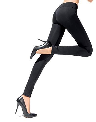 LEGGINGS PUSH UP | LEGGINGS MODELLANTI E CONTENITIVI | SHAPER | NERO, BORDEAUX, NAVY | S, M, L | MADE IN ITALY | (Nero, L)