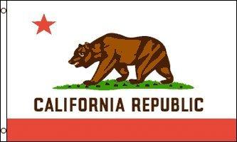 アメリカンフラッグ★カリフォルニア州旗★3x5ft (90x150cm)california USA