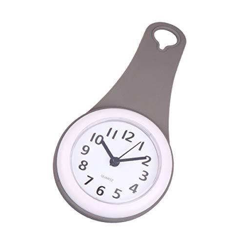 Hemobllo Reloj de Pared Impermeable sin batería – Reloj de Pared para baño, Dormitorio, Sala de Estar, Ducha, ventosas, Despertador Colgante, 21 5 x 4 2 x 10 5 cm