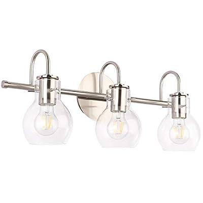 SOLFART Bathroom Lighting Vanity Lights Brushed Nickel Stainless Steel