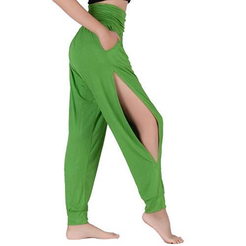Lofbaz Pantalones De Yoga para Mujer Leggings De Entrenamiento Corte Sutil Ropa para Mujer Pantalones Deportivos Harem Pijamas Verde Lima S