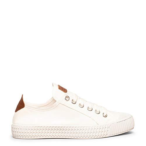 Bamba Zapatillas Blancas de Lona para Mujer