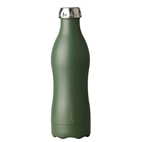 Dowabo Trinkflasche Earth Collection - Kohlensäuredichte Edelstahl Isolierflasche BPA-Frei - 12H heiß / 24H kalt - 500/750 ml (Olive, 500 ml)