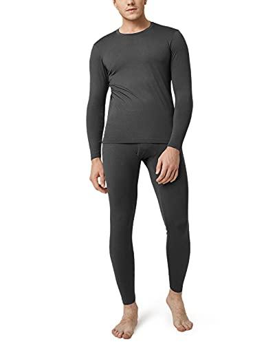 LAPASA Set de Ropa Térmica para Hombre. -Brushed Back Fabric Technique- M11 (S (Detalle en descripción), Dark Grey (Gris Oscuro))