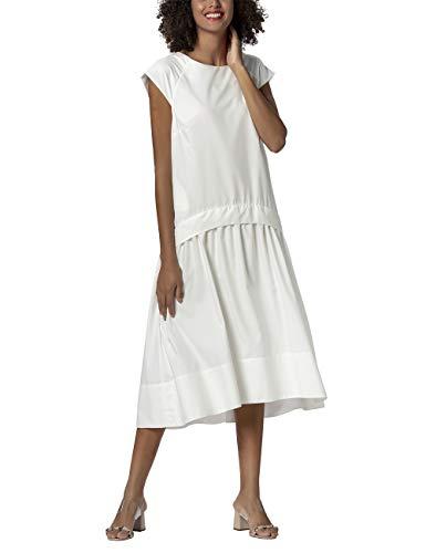 APART Damen Sommerkleid in luftigem Design, Creme, 44