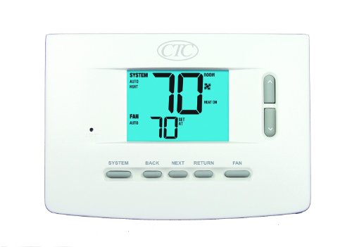 Supco 71100N Wall Thermostat, 1 Heat/1 Cool Non Programmable, 3 Square Inch Display