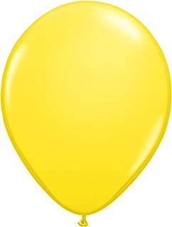 ゴム風船 Qualatexバルーン(ラウンド無地)イエロー 16インチ(直径42cm) 50個入り/袋