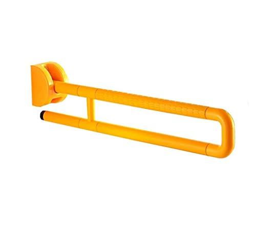 SHOP YJX Badezimmer Folding WC Haltegriff Nylon U Typ Old Man Sicherheits-Handgriff Booster Zugänglichkeit Geländer Gelb (Color : 75cm)