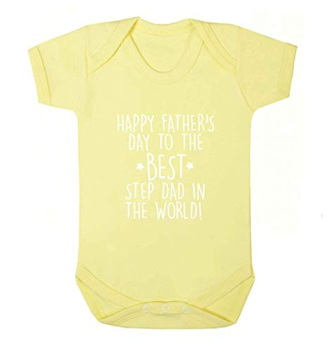 Flox Creative Baby Vest Father's Day T-shirt Best Step Dad in The World - Jaune - S