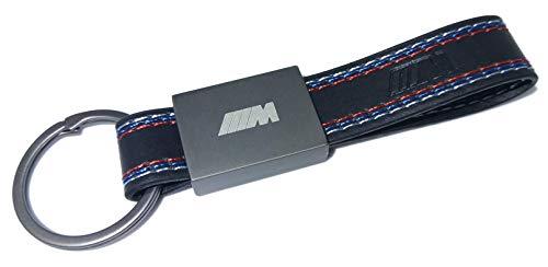 Schlüsselanhänger rechteckig Leder Stahl kompatibel mit M Sport