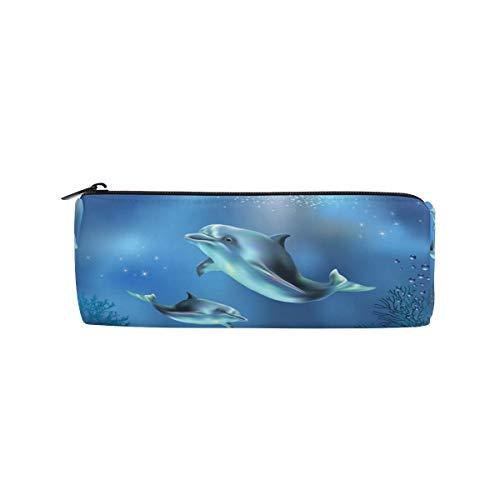 Estuche con forma de cilindro Titulares con forma de delfín Ocean Fish...