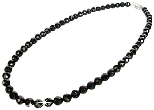 超ゴージャス 超遠赤外線健康アクセサリー テラヘルツ加工 大粒 ブラックシリカ 38面カット 水晶ネックレス ロングタイプ