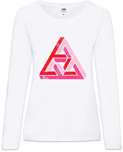 Urban Backwoods Penrose Logo Sign II Damen Langarm T-Shirt Weiß Größe XS