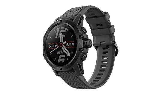 COROS VERTIX GPS Adventure Watch with Pulse Oximeter,Titanium Bazel/Cover with Sapphire Glass (DLC Coating),24/7 Blood Oxygen Monitoring, Trainer and Ultra-Durable Battery Life (Dark Rock) (Renewed)