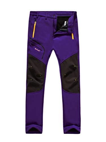 Minetom Pantalon Softshell Hombre Mujer Pantalones de Montaña Impermeable Pantalon Trekking Caliente Pantalones Invierno Aire Libre Pantalones