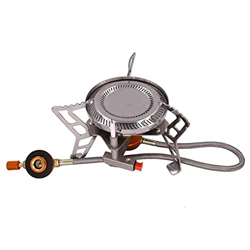 Mini quemador de gas estufa portátil de un solo quemador estufa de Picnic para acampar al aire libre cocina de gas butano para accesorios de barbacoa en casa