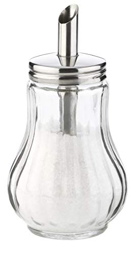 Tescoma Zuckerstreuer aus Glas Edelstahl, ideal für weißer/brauner Zucker, 150 Ml