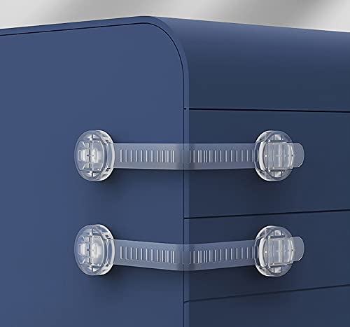 Cerradura de seguridad para niños con correa transparente ajustable para armario, cerradura de seguridad para puerta, cajón, horno, nevera