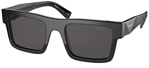 Prada Gafas de Sol PR 19WS Black/Grey 52/21/145 hombre