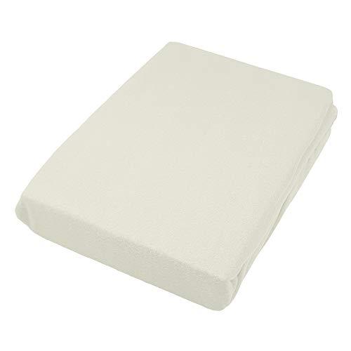 Casa Colori Thermo Fleece Spannbettlaken 90/100x200-140/150x200-180x200 cm versch. Farben, Größe:100x200, Farbauswahl:Off White
