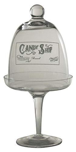 Kasahome Soporte para tartas y caramelos, macarons, fruta, campana, centro de mesa, de cristal decorado, 12,5 x 25 cm