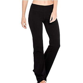Houmous S-XXXL 29  31  33  35   Inseam Women s Cotton Bootcut PantsInner Pocket Regular-33 Inseam-Black Large
