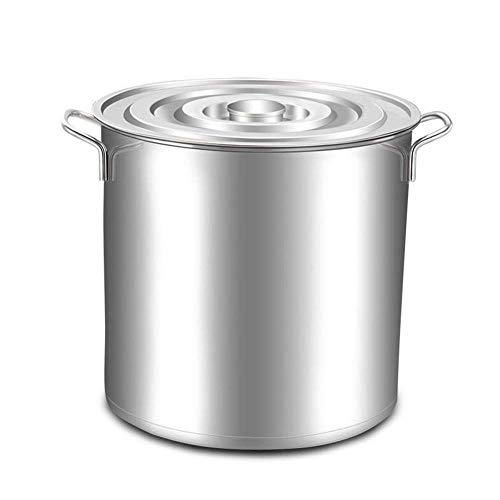 l.e.i. Soup Deep Chef Pot,Stainless Steel Casserole Professional Chef's Saucepan Two Handles Multipurpose Deep Large Capacity Stockpot for Kitchen Restaurant-a 35x35cm(14x14inch)