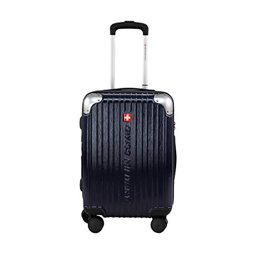 Swiss Military EVO2 Nevy Blue Polycarbonate 56 cms Navy Hardsided Cabin Luggage (HTL67)