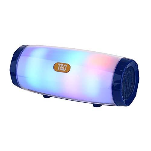 Mjygv TG165C Luces de Colores Mini Bluetooth inalámbrico Altavoz Deportivo al Aire Libre Altavoz de la Columna de la Columna subwoofer Audio MJ