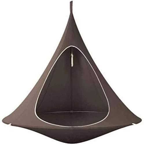 Generic Hamaca Silla de hamaca cónica, para camping, tienda de campaña, para colgar en el árbol, para adultos, personas mayores, para uso en interiores y exteriores (marrón)