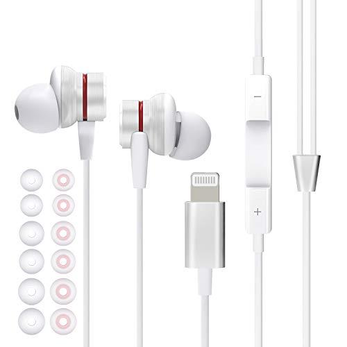 aceyoon Ecouteur Lightning, MFi Certifié Ecouteurs Intra Auriculaire avec Microphone Contrôle Volume Earpods Lightning Stéréo Ecouteur Filaire Compatible avec iPhone 12,11,XS,XR,8,7 etc