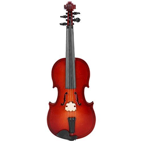 CHICIRIS Modelo de violín, Modelo de violín en Miniatura único para estanterías, Regalo de Acción de Gracias, escritorios de Oficina(14cm)