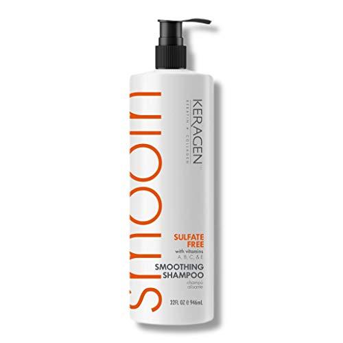 Keragen – Sulfate-free Brazilian Aftercare Smoothing Shampoo with Keratin, Panthenol, Vitamins, Collagen, and Jojoba Oil - 32oz