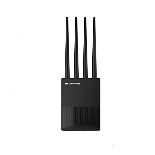 1200Mbps Inicio 2.4G 5G Gigabit Dual-Band WiFi Router Dual Band 2 * 5dBi Antena Router Wireless (Color : A)