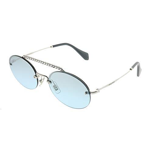 Miu Miu 60TS SOLE Gafas de sol Mujer Plateado