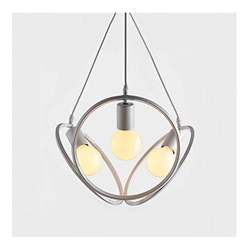 YANGQING Lámpara de techo retro – barra industrial creativa iluminación de personalidad creativa de café araña de hierro forjado (color: luz B-blanca), color: luz cálida (color: luz B-cálida)
