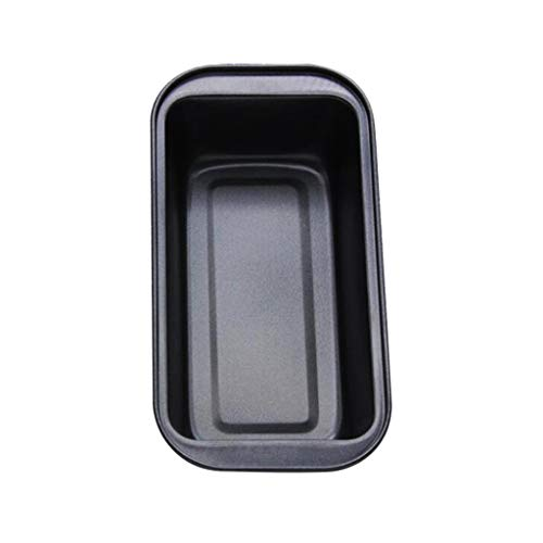 Backbayia Carbon Steel Loaf Pan Nonstick Loaf Bread Baking Pan Bakeware for Toast, Cake, Meatloaf (Black)