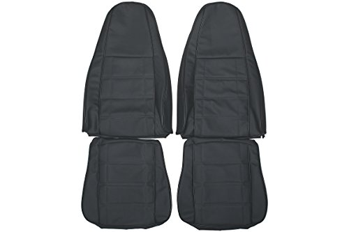1997-2006 Jeep Wrangler TJ Genuine Leather Seats Cover Custom Made (Front) Charcoal Black