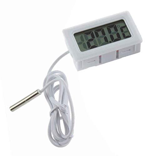 beIilan Digital LCD del Acuario Termómetro Negro Monitor de Temperatura con sonda Externa para el Pescado del Tanque de Agua