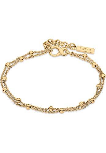 JETTE Damen-Armband Lucky Charm 925er Silber rhodiniert One Size Gold 32010380